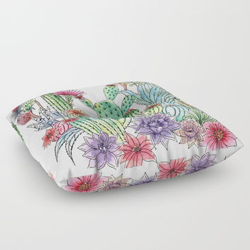 Cactus garden Carry-All Pouch by Juliagrifol Designs