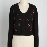 Get Cherried Away Cardigan | Mod Retro Vintage Sweaters | ModCloth.com