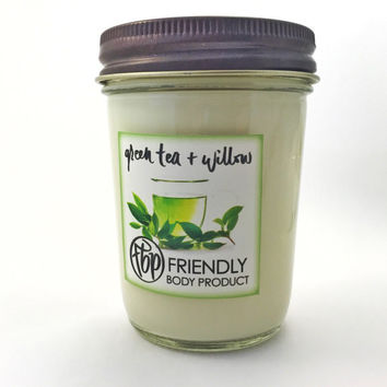 Green Tea & Willow 6 oz Candle