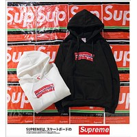 Supreme Wrinkled hoodies plus cashmere sweater men and women jacket lovers
