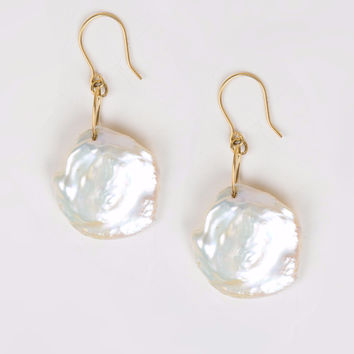 Large Keshi Pearl Earrings
