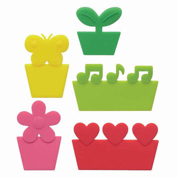 "Happy Silicone ""Grass"" Baran Dividers for Bento Lunch Box by Torune Mama's Assist Reusable and Cute!"