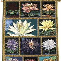 Lotus Collage - Rod Tapestry