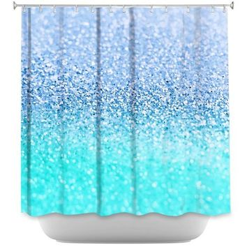 DiaNoche Designs Shower Curtains by Monika Strigel Stylish, Decorative, Unique, Cool, Fun, Funky Bathroom - Gatsby Ice Cold Mint