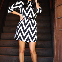 RESTOCK EVERLY: Joy For Chevron Dress | Hope's