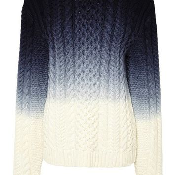 Sea Ombre Knit Sweater Blue