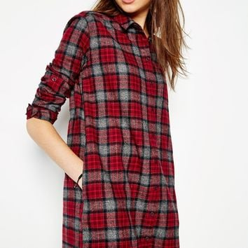 MAGGIE TARTAN SHIRT DRESS