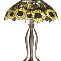 30 Inch H Wild Sunflower Table Lamp