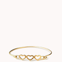 Cutout Hearts Bangle