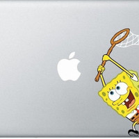 spongebob MacBook Decals mac decals macbook pro decal macbook air decal mac stickers apple decal ipad iphone skin stickers 3 4 5