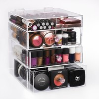 acrylic makeup organizer, makeup, beauty box, beauty, organizer, clear cube,box,