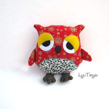 Handmade Fabric Owl, Ornies Bowl Fillers, Party Favors Decorations Home Decor, Baby shower, toys, ornament, gift