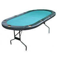 Texas Hold'em Poker Table with 10 Built-Inch Drink Holders