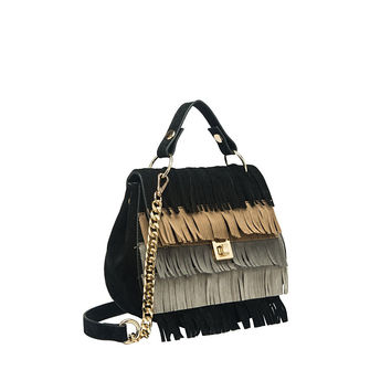 Meadow Fringe Bag Black