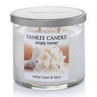 Yankee Candle simply home 10-oz. White Linen & Lace Jar Candle