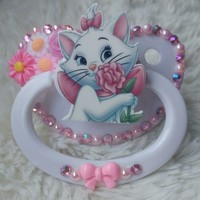 Floral Marie Pacifier from Baby Bat Creations