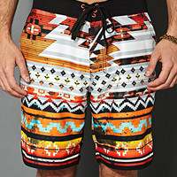 Southwestern Print Swim Trunks