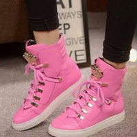 Versace Sneakers With High Help Shoes-12