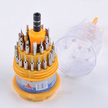 31 in 1 precision Magnetic screwdriver set with Non-slip rubber handle essential tool kit for the gadget enthusiasts