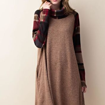 Pullover Plaid Dress