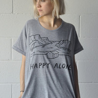 Happy Alone loose tee