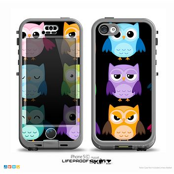 The Emotional Cartoon Owls on Black Skin for the iPhone 5c nüüd LifeProof Case