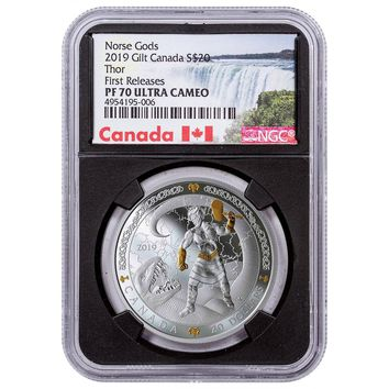 2019 Canada 1 oz Silver $20 Norse Gods Thor Proof NGC PF-70 (First Releases)