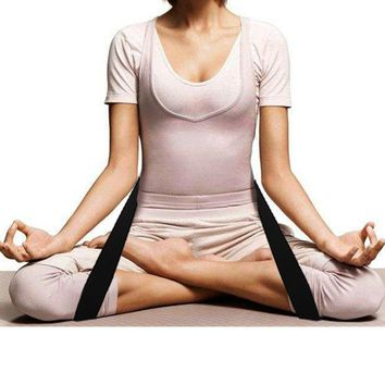 Mounchain Lengthen Cross Legged Meditation Belt Auxiliary Yoga Strap Flexible Stretch Belt Tension Band resistance band