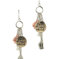 Disney The Little Mermaid Dinglehopper Earrings
