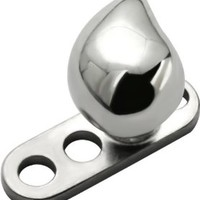 Teardrop Surgical Steel Micro Dermal Surface Anchor Top Only