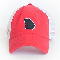 Georgia Athens Gameday Trucker Hat in Red by State Traditions