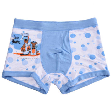 Bamboo Fiber Children Underwear Sports Boys Shorts Panties Kids Boxer Briefs Mix Color