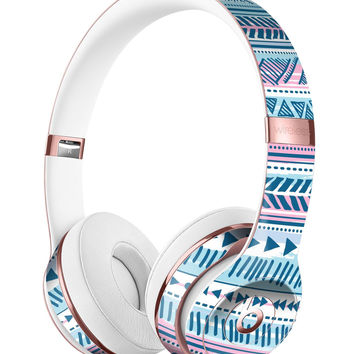 Pink to Blue Tribal Sketch Pattern Full-Body Skin Kit for the Beats by Dre Solo 3 Wireless Headphones