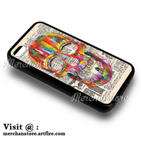 Vintage Colorfull Sugar Skull iPhone 4 or 4S Case Cover