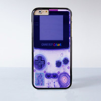 Nintendo Purple Game Boy Color Plastic Case Cover for Apple iPhone 6 6 Plus 4 4s 5 5s 5c