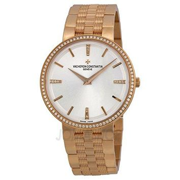 Vacheron Constantin Patrimony Traditionnelle Manual Wind Silver Dial 18kt Rose Gold Mens Watch 81577V01R-9271
