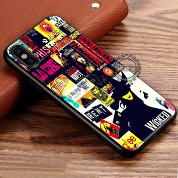 Musical Broadway Collage iPhone X 8 7 Plus 6s Cases Samsung Galaxy S8 Plus S7 edge NOTE 8 Covers #iphoneX #SamsungS8