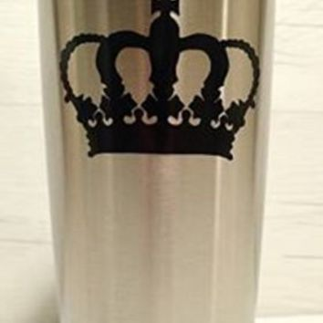 King Crown Yeti Decal, Yeti Rambler Decal, Yeti Tumbler Decal, Ozark Tumbler Decal, Wall Vinyl Decal, Ozark Trail Decal, RTIC