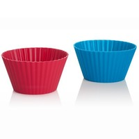 Trudeau Silicone Muffin Cups, X-Large 6 ounce , Set of 4