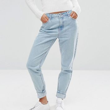 Missguided Riot High Rise Mom Jean at asos.com