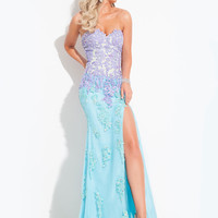Sweetheart Beaded With High Slit Prom Dress By Rachel Allan 6890