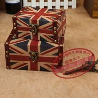 Two peace set Large and Small UK flag Portable Vintage Jewelry box and packaging storage case wooden Jewelry organizer box-in Carrying Cases from Jewelry on Aliexpress.com