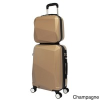 World Traveler Diamond 2-Piece Carry-on Spinner Luggage Set | Overstock.com Shopping - The Best Deals on Two-piece Sets