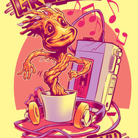 GROOVIN' THROUGH THE GALAXY Art Print by BeastWreck
