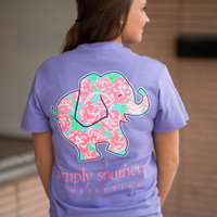Simply Southern Floral Elephant Tee