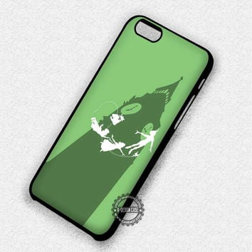 Fly Silhouette Peter Pan Big Ben Tinkerbell - iPhone 7 6 5 SE Cases & Covers