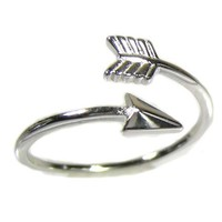 925 Sterling Silver Arrow Ring High Polished with Rhodium Finish