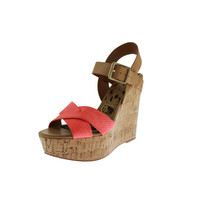 Sam Edelman Womens Sasha Leather Platform Wedges