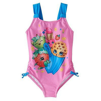 Shopkins Girls' One Piece Swimsuit (4-6X) FREE 2ND DAY AIR SHIPPING