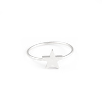 Silver star ring - JOLI JOLI JEWELRY